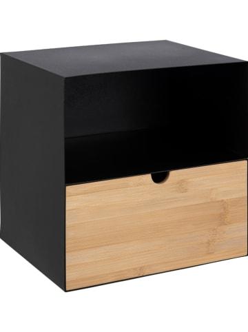 """AC Design Stolik nocny """"Joliet"""" w kolorze brązowo-czarnym - 30 x 30 x 25 cm"""