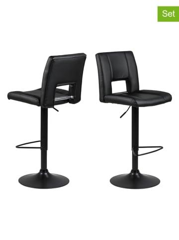 "AC Design 2-delige set: barkrukken ""Sylvia"" zwart - (B)41,5 x (H)115 x (D)52 cm"