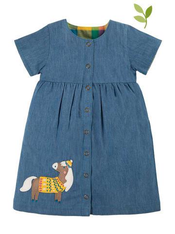 """Frugi Dwustronna sukienka """"Romilly"""" w kolorze niebiesko-żółtym"""