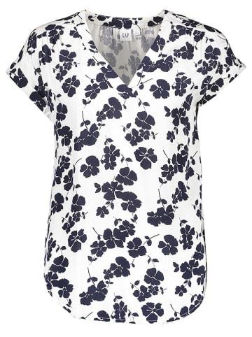 GAP Koszulka w kolorze biało-granatowym