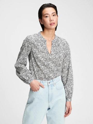 GAP Bluzka w kolorze biało-czarnym