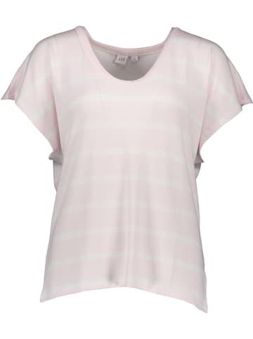 GAP Koszulka w kolorze jasnoróżowo-białym