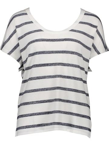 GAP Shirt in Weiß/ Dunkelblau