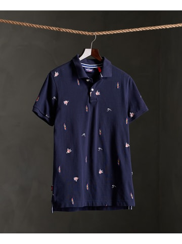 """Superdry Poloshirt """"Classic AOE Pique"""" donkerblauw"""