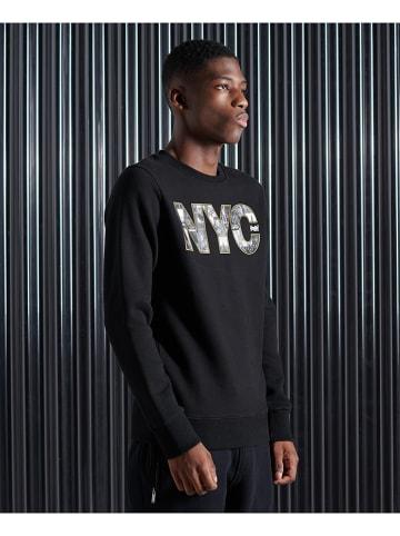 """Superdry Bluza """"VL NYC Photo"""" w kolorze czarnym"""
