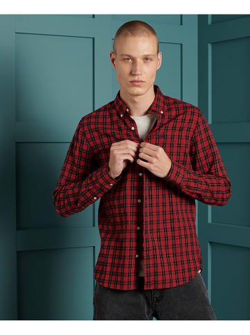 """Superdry Hemd """"Classic London"""" in Rot"""