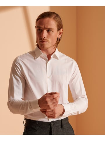 "Superdry Blouse ""Modern Tailors"" - slim fit - wit"