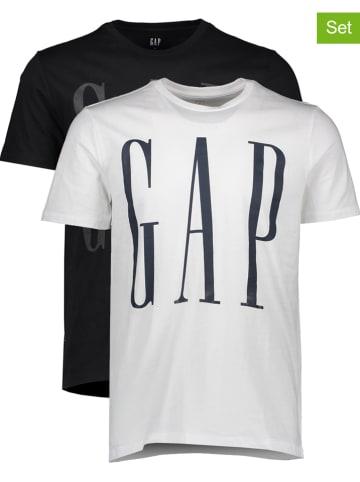 GAP Koszulki (2 szt.) w kolorze czarnym i białym