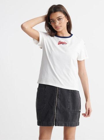 "Superdry Shirt ""Vintage Logo Micro Boxy"" wit"