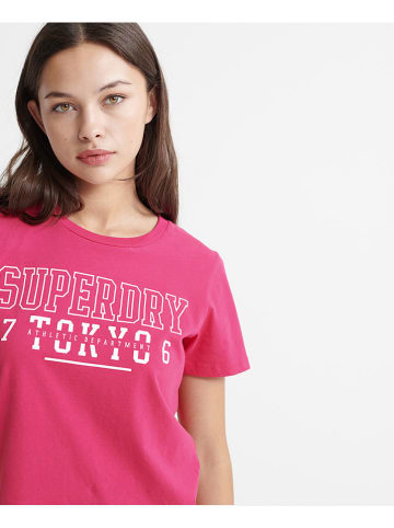 "Superdry Shirt ""Track & Field"" fuchsia"