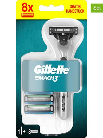 "Gillette 9tlg. Rasierer-Set ""Mach3"" in Silber"