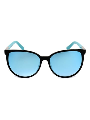 Furla Damen-Sonnenbrille in Schwarz/ Türkis