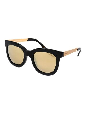 """Zadig&Voltaire Okulary przeciwsłoneczne """"SZV039G"""" w kolorze czarno-złotym"""