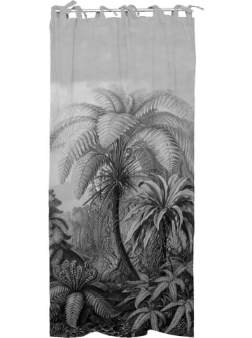 """Madre Selva Zasłona """"Palm"""" w kolorze szarym - 270 x 140 cm"""