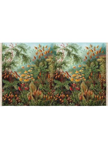 "Madre Selva Tapijt ""Deep Forest"" lichtblauw/groen - (L)135 x (B)195 cm"