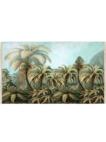 "Madre Selva Tapijt ""Paradise"" lichtblauw/groen - (L)135 x (B)195 cm"