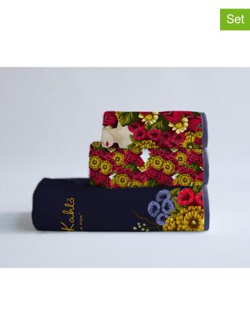 "Madre Selva Ręczniki (3 szt.) ""Frida Bunch"" ze wzorem"