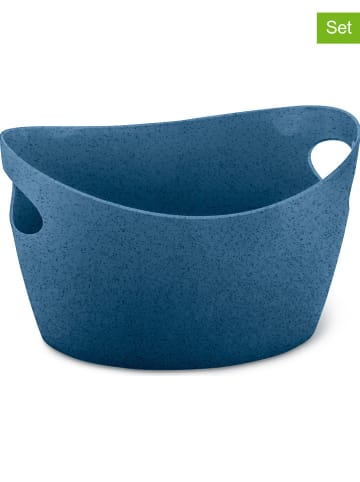 "Koziol 2-delige set: opbergbakken ""Bottichelli XS"" blauw - 450 ml"