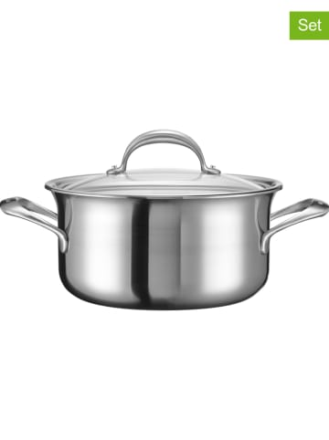 "KitchenAid 2tlg. Set: Edelstahl-Kochtopf ""KC2C60LCST"" - Ø 24 cm"