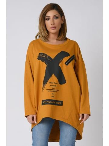 """Plus Size Company Bluza """"Perla"""" w kolorze karmelowym"""