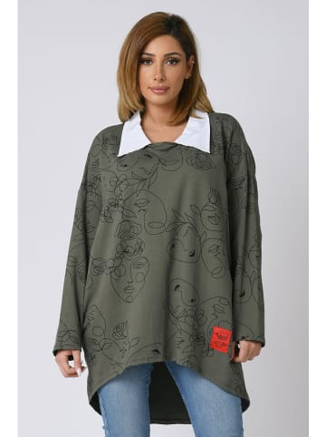 "Plus Size Company Bluza ""Sybel"" w kolorze khaki"