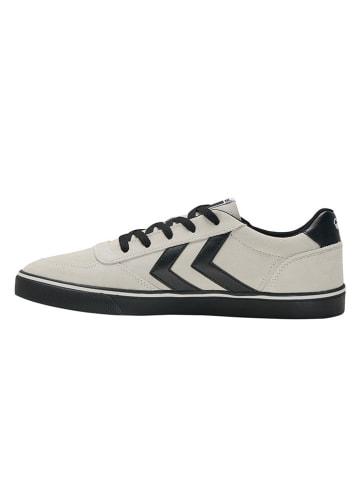 """Hummel Skórzane sneakersy """"Stadil 3.0 Suede"""" w kolorze kremowo-czarnym"""