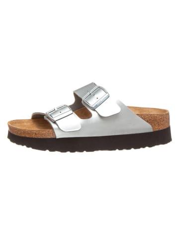 """Papillio Slippers """"Arizona"""" zilverkleurig - wijdte S"""