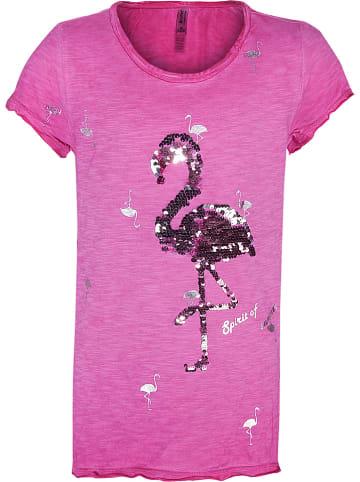 """Blue Effect Koszulka """"Flamingo"""" w kolorze różowym"""