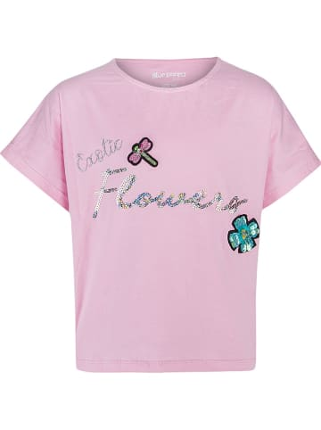 """Blue Effect Shirt """"Exotic Flowers"""" in Rosa"""