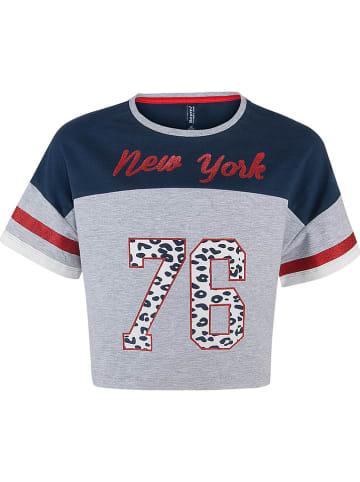 """Blue Effect Shirt """"New York 76"""" grijs"""