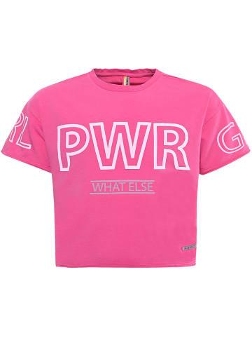"""Blue Effect Koszulka """"GRL PWR"""" w kolorze różowym"""