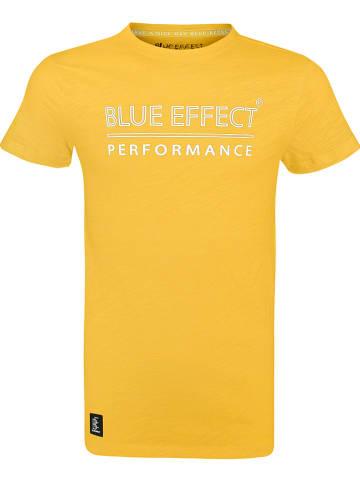 """Blue Effect Shirt """"BE"""" geel"""