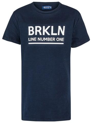 "Blue Effect Shirt ""BRKLYN"" donkerblauw"