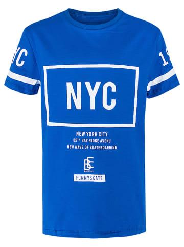 "Blue Effect Shirt ""NYC"" blauw"