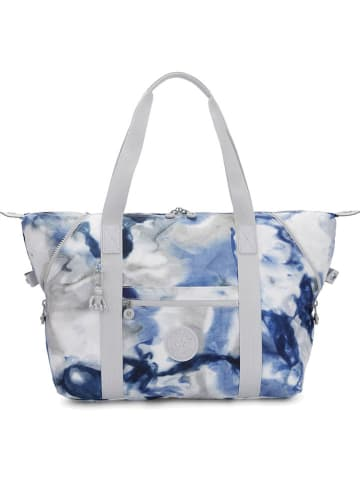 "Kipling Weekendtas ""Art M"" grijs/blauw - (B)44 x (H)27 x (D)20 cm"
