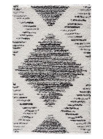 "Nazar Hoogpolig tapijt ""Terra"" crème/zwart"
