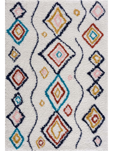 """Nazar Hoogpolig tapijt """"Tanger"""" wit/meerkleurig"""