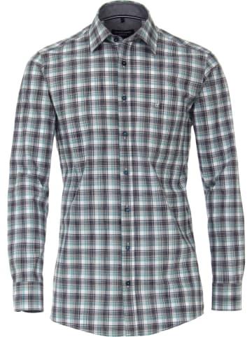 CASAMODA Blouse - comfort fit - grijs/groen/wit