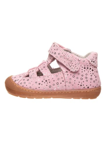 Richter Shoes Leren enkelsandalen lichtroze