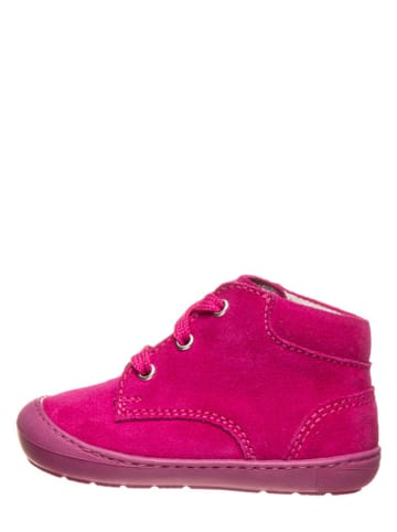Richter Shoes Skórzane buty w kolorze różowym do nauki chodzenia