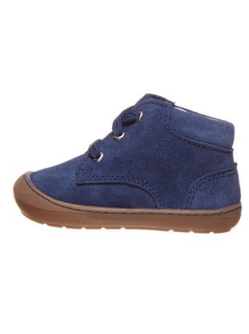 Richter Shoes Leder-Lauflernschuhe in Dunkelblau