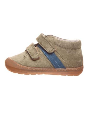 Richter Shoes Leren loopleerschoenen kaki