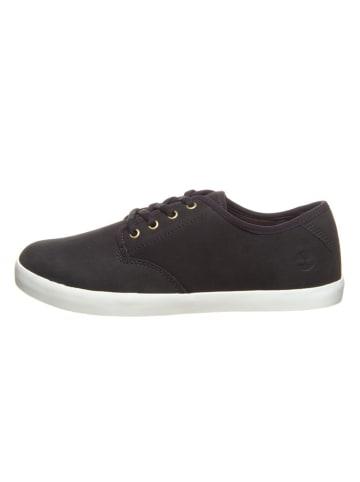 "Timberland Leren sneakers ""Dausette Leather"" zwart"