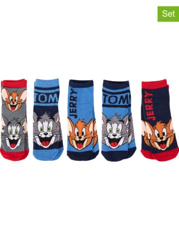 """United Labels 5-delige set: sokken """"Tom & Jerry"""" meerkleurig"""