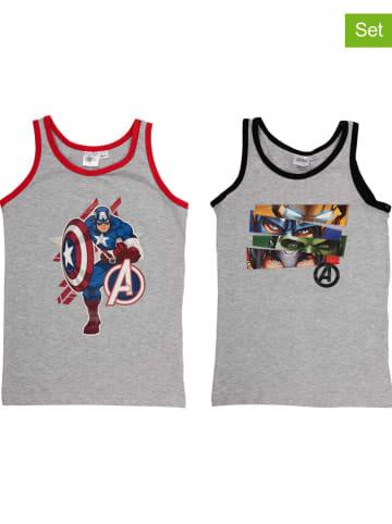 "United Labels 2-delige set: onderhemden ""Avengers"" grijs"