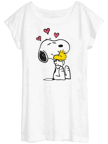"""United Labels Koszulka piżamowa """"Peanuts"""" w kolorze białym"""