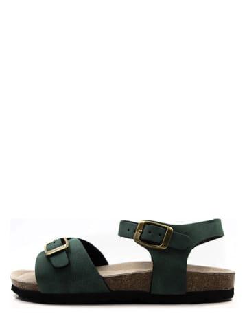 Lamino Sandały w kolorze zielonym