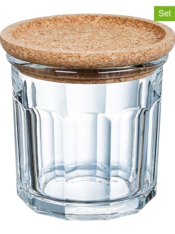 """Luminarc Pojemniki (6 szt.) """"Cork"""" w kolorze jasnobrązowym - 420 ml"""