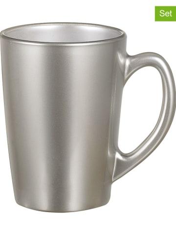 """Luminarc Kubki (6 szt.) """"Flashy"""" w kolorze srebrnym do kawy - 320 ml"""