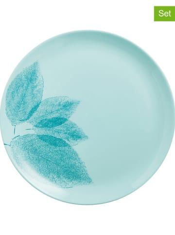 """Luminarc 6-delige set: dinerborden """"Arpegio"""" turquoise - Ø 25 cm"""